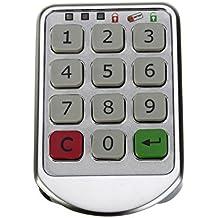 Juego de kit de bloqueo de armarios de armario electrónico, bloqueo de teclado digital con entrada de contraseña - Pomo de bloqueo de puerta sin llave