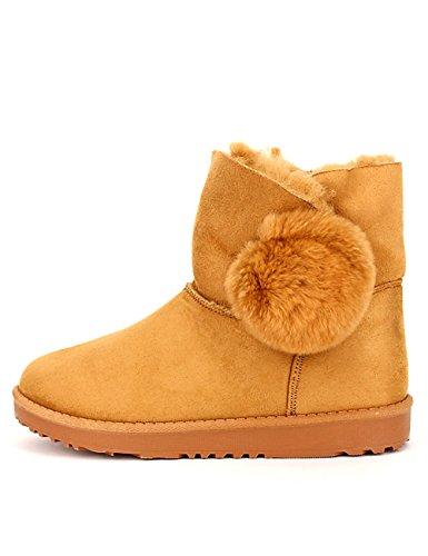 Fourrées Caramel Quenns Boots Cendriyon Femme Chaussures Camel U45Yq5w