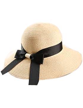 Sombrero Del Verano Para Mujer Protección Solar Sombrero De Protección Solar Plegable Playa Viajes Informal Borde...