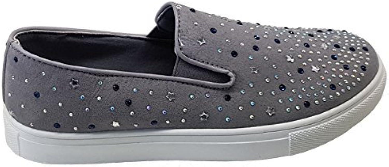 045e0d99dd2209 Fantasia Fantasia Fantasia Boutique Ladies Diamante Rhinestone Daps Flat  Slip On Casual Trainers Pumps Sneakers Parent B07B9BXPHD 5c2fad