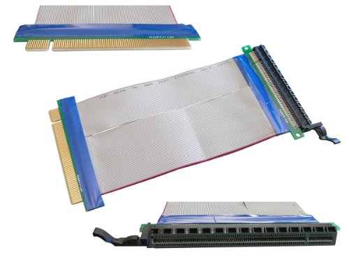 KALEA-INFORMATIQUE © - Riser PCI Express 1 port PCI-E 16x - SOUPLE - Rallonge longueur totale 195mm