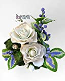 Blumen Kalte Porzellan Miniatur GARDENIEN Wohnkultur Hand gemacht