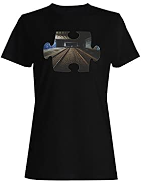 Rompecabezas hermosa perspectiva primer punto camiseta de las mujeres e721f