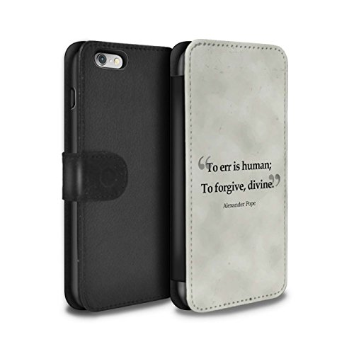 STUFF4 PU-Leder Hülle/Case/Tasche/Cover für Apple iPhone 6S / William Shakespeare Muster / Berühmte Zitate Kollektion Alexander Pope