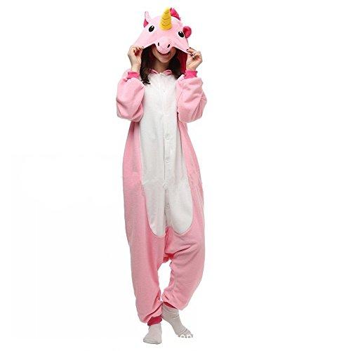 Misslight Unicorn Pyjamas Costumes d'animaux Cosplay Pyjamas Combinaison Vêtements de nuit Combinaison pour Enfant Adulte Unisexe pink