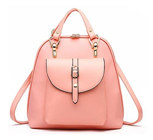 Keshi Pu Cool Damen accessories hohe Qualität Einfache Tasche Schultertasche Freizeitrucksack Tasche Rucksäcke Pink