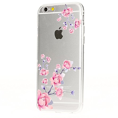 iPhone 6 6S Hülle Handyhülle von NICA, Slim Silikon Motiv Case Crystal Schutzhülle Dünn Durchsichtig, Etui Handy-Tasche Back-Cover Transparent Bumper für Apple iPhone 6S 6 - Blooming Flowers