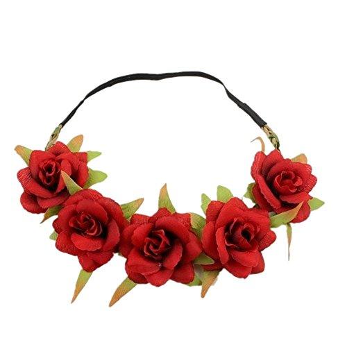 RESHOW 10 St/ück Damen Boho Stirnb/änder Kopfband Haarband Elastische Weiche Stirnband Niedlich Haarschmuck