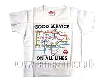 London Underground - Tube Map Kids T-Shirt (6-8 years)