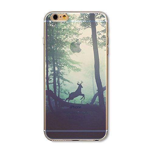 Coque iPhone 6 Plus 6s Plus Housse étui-Case Transparent Liquid Crystal en TPU Silicone Clair,Protection Ultra Mince Premium,Coque Prime pour iPhone 6 Plus 6s Plus-Paysage-style 7 6