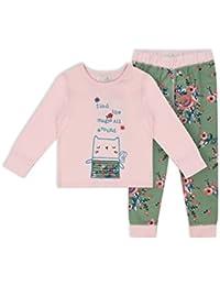 The Essential One - Bebé Infantil Niñas Mágico Pijama - Verde/Rosado - EOT538