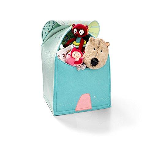 Lilliputiens 83000 Spielkiste / Aufräumkorb / Aufbewahrungskorb für Spielwaren, etc., Design: Dschungel im Look, Größe: 56,5 x 38 x 38 cm