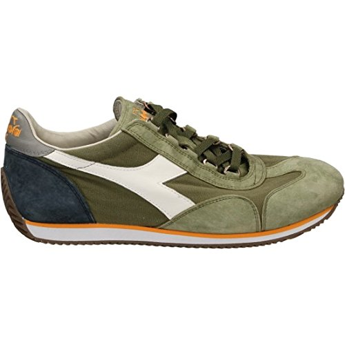 Diadora Equipe Stone Wash 12, Chaussures Basses Mixte Adulte Blanc/vert