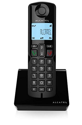 Alcatel S250 - Teléfono DECT inalámbrico (Altavoz, 50 entradas, identificador de Llamadas) Color Negro