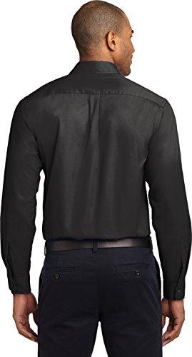 kectelly Port Authority–Camicia a maniche lunghe, di facile manutenzione 4Black/Lt Stone