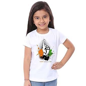 Bon Organik Happy Republic Day for Daughter(BON164-SP-WH-G0 Size-6-12M)