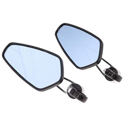 Espejos Laterales Para Motocicleta Para Manillar de 18-24 mm Universal - Negro