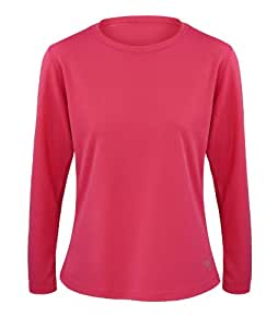 Time To Run Women's Favourite Long Sleeve T Shirt Size 16 Raspberry