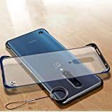 one Plus 7 Pro Cover Mobistyle Ultra Thin Shockproof Frameless Matte Transparent with Ring Buckle Back Cover Case for one Plus 7 Pro/oneplus 7 pro (Ring Blue)