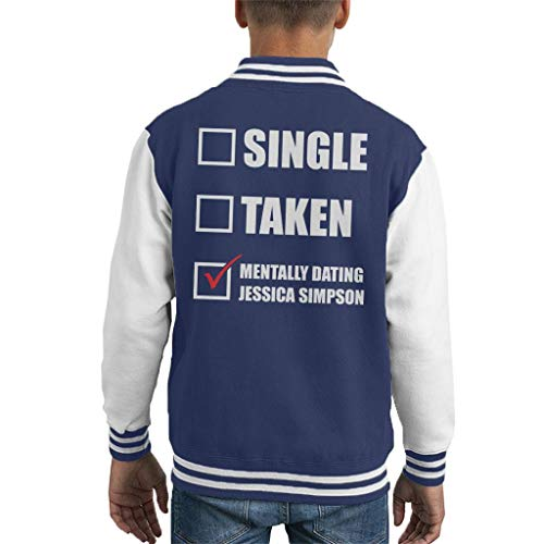 Mentally Dating Jessica Simpson Kid's Varsity Jacket