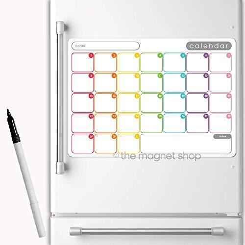 The Magnet SHOP magnétique calendrier par MENSUEL Agenda Tableau mémo aimant pour réfrigérateur pour maison, Bureau et cuisine