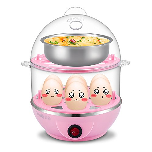 Stvin Double layer egg boiler electric / electric egg cooker / electric egg poacher / milk boiler