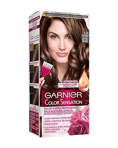 Garnier Color Sensation coloración permanente e intensa reutilizable con bol y pincel - 5.0 Castaño...
