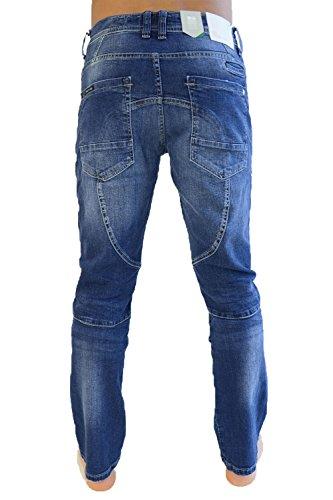 Crosshatch Friars Herren Gerades Bein Utility Jeans Halbhelle Waschung