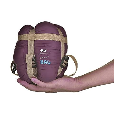 Agemore Envelope Outdoor Sleeping Bag Camping Travel Hiking Multifuntion Ultra-light (Claret Red)