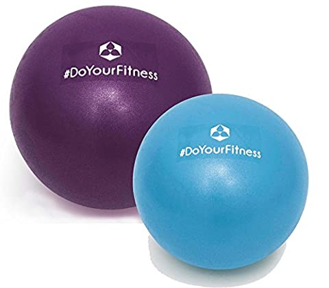 [2Stück] Mini Pilates Ball »Bola« Gymnastikball: Effektives Training gegen Verspannungen und Muskelschmerzen, in verschiedenen Größen (28cm & 33cm) / Farbe (Pilates Ball)