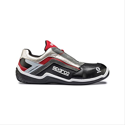 RALLY LOW S1P Safety Shoes Rouge Argent