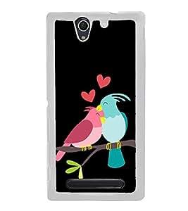 Fiobs Designer Back Case Cover for Sony Xperia C4 Dual :: Sony Xperia C4 Dual E5333 E5343 E5363 (Love Bird Art Theme )