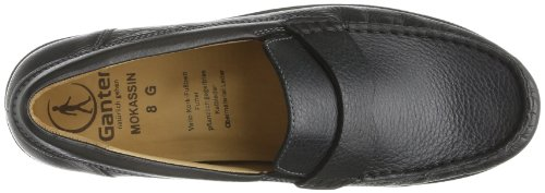 Ganter Gerome Weite G 7-251819-01000 Mens Mocassini Neri (nero 0100)