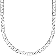 Shining Jewel 925 24 inches Silver Plated Imported Quality Cuban Chain for Men & Women (SJ_2187)