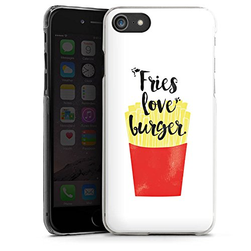 Apple iPhone X Silikon Hülle Case Schutzhülle Pommes Fastfood Burger Hard Case transparent