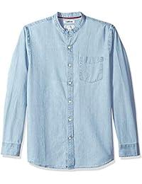 dcbfa3b94 Goodthreads Camisa Vaquera Standard Fit de Manga Larga con Cuello de Tira  Hombre