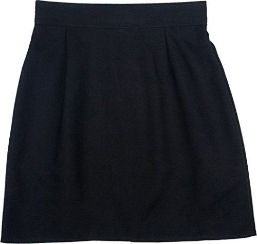 Girls Ladies A Line Plain Pencil Skirt School Work Uniform Skirt Black Grey Navy
