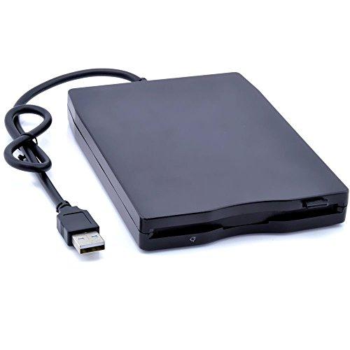 BEESCLOVER Tragbares externes 3,5 Zoll USB 1,44 MB FDD Diskettenlaufwerk Plug and Play für PC Windows 2000/XP/Vista/7/8/10 Mac 8.6 oder Oben, Schwarz