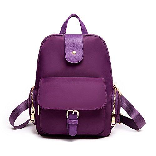 Mefly Oxford All-Match sacchetto impermeabile spalle semplice viaggio di piacere Rose Red Violet