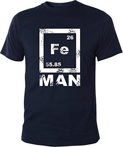 Mister Merchandise T-Shirt FE Man Iron Ironman Chemie Periodentafel Nerd