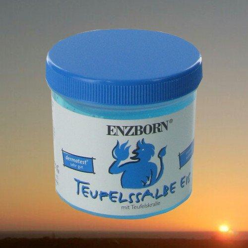 Pferdesalbe Enzborn Teufelssalbe EIS 200 ml, ist ein intensiv kühlendes Pflegegel mit der natürlichen Kraft der Teufelskralle