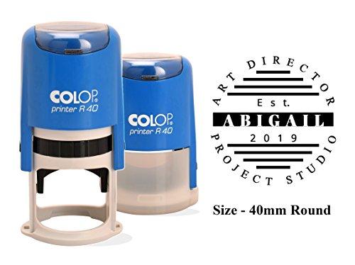 Timbro Autoinchiostrante Colop R-40 Indirizzo Ufficio Stampa Timbro Personalizzato 40 Mm