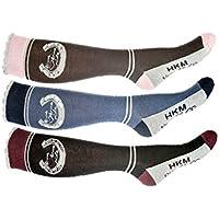 HKM Mujer–Calcetines de equitación Horse Love Calcetines, todo el año, mujer, color gris, tamaño 39-42