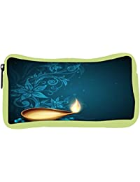 Snoogg Eco Friendly Canvas Greeting Card For Diwali Celebration In India Student Pen Pencil Case Coin Purse Pouch...