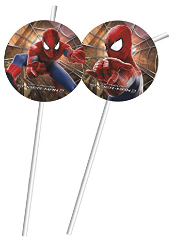 Marvel Amazing Spiderman Party Trinkhalme, 6Stück