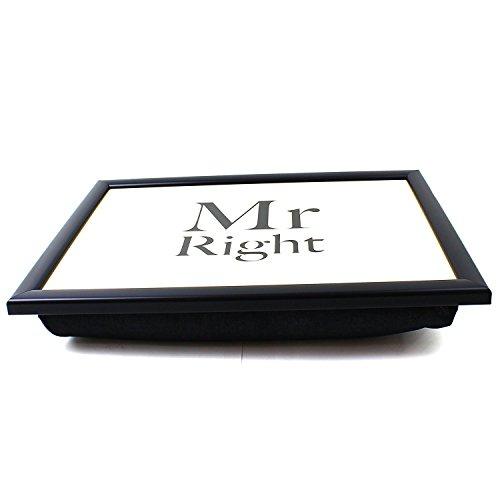 Lesser & Pavey Tablett zum Frühstücken im Bett oder Essen auf dem Sofa, Laptop-Kissen, Mr Right