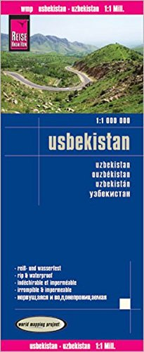 Reise Know-How Landkarte Usbekistan (1:1.000.000): world mapping project
