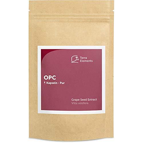 Terra Elements OPC Kapseln (400 mg, 150 St) I Aus französischen Traubenkernen I Natürlich extrahiert I Vegan I Glutenfrei