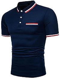 Clearance Big Covermason Hommes Polo Sport T-Shirt Personnalité T-Shirt à  Manches Courtes Mode Chemises Affaires Décontracté Top… 093b819164c