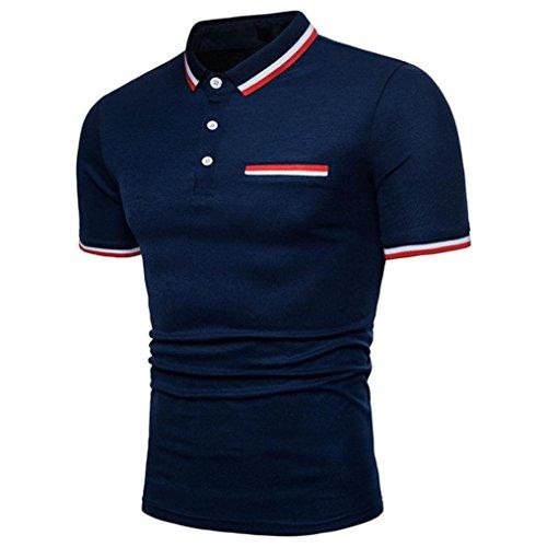 d5981e8d8b5b4 Clearance Big Covermason Hommes Polo Sport T-Shirt Personnalité T-Shirt à  Manches Courtes